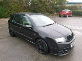 2006 SKODA FABIA VRS 1.9 TDI PD 170 BHP REMAPPED 5 DOOR HATCHBACK BLACK