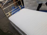 single bed and mattress and h board brass