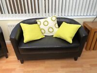 Leather style sofas and chairs
