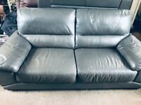 3+2 half leather sofa in grey. Very good condition, only 18 months old