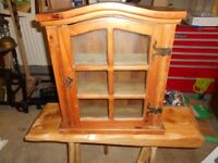 mexican pine display cabinet