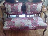 Antique sofa settee - Edwardian/Victorian, newly refurbished £349 ono
