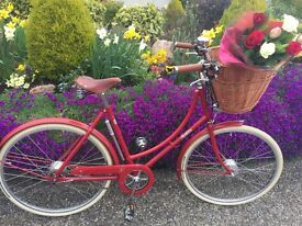 Pashley Britannia Hybrid Red Bike