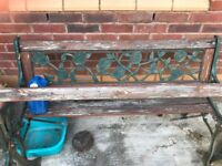 pair of cast iron garden benches for refurb