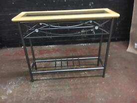 Beautiful glass and metal hall table