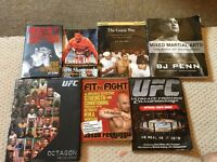 Various MMA and boxing books