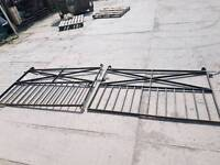 Reclaimed 10.5ft wrought iron garden driveway gate