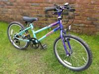 Girls giant mountain bike 20inch wheels