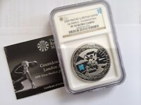 2009 COUNTDOWN TO OLYMPICS SILVER PROOF COIN NGC CERTIFIED
