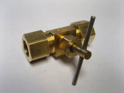 Needle Valve Brass Fitting - Brass Fitting: Needle Valve Male Pipe 3/8