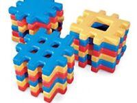 Plastic Little Tikes Waffle Blocks