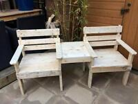 Reclaimed Wood Handmade Garden Seat