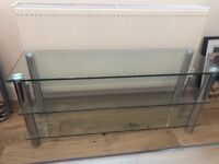 Large glass tv stand - £25 (was £100 new)