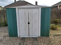 Arrow 8 X 6 Feet Metal Garden Shed - Buyer to Dismantle & Collect from Derby. .