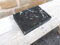 Set of Black Marble Effect Table Place Mats Placemats Glass Plastic Protectors