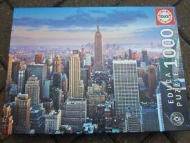 NEW YORK SKYLINE JIGSAW PUZZLE. 1000 PIECES