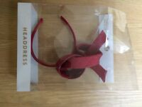 Red fascinator from M & S BNWT