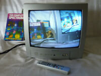 "CRT TV Digilogic D14PTV1 Portable 14"" with Remote Control Retro Gaming monitor"