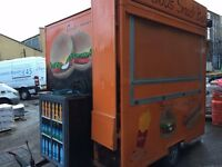 CATERING COMMERCIAL BURGER HOT DOG KEBAB SNACK VAN TRAILER FAST FOOD OUT DOOR AND FULL EQUIPMENT'S