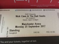 Nick Cave and The Bad Seeds tickets x2