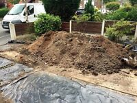 Free soil, mix of top soil and backfill - dug up for footings