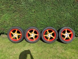 Set of four Mazda MX5 Alloys with winter tyres