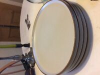 4 lovely grey speckled dinner plates. Excellent condition £10 for 4