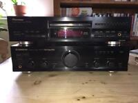 Pioneer Amp and CD player