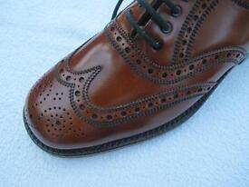 Tan Brogue Oxford Shoes - Size 8. Super Quality, all leather.
