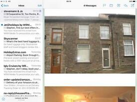 Large two bedroom in ton pentre cooperation street