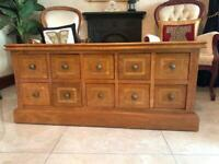 Marble wood Coffee chest table with drawers high quality