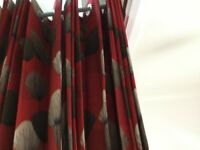 FULL LENGTH JOHN LEWIS RING HEADED CURTAINS FULLY LINED PURE COTTON . Barely used.