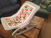 Baby Bouncer Like New! (RRP £60) - Soothing Vibration Musical Bouncer by East Coast Nursery