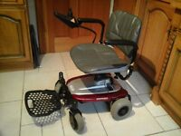 Beautiful battery operated powerchair to restore independence to those with limited mobility.
