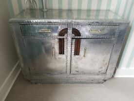 Art deco aluminium chest