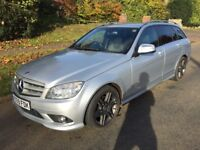 Mercedes C230 2.5L V6, 2009 Silver, Automatic, Estate, Petrol. Only 55,000 Miles