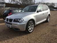 BMW X3 3.0D M SPORT- DIESEL - SATNAV - BLACK LEATHER SEATS - HPI CLEAR - PART EX WELCOME