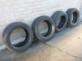 4 Hankook winter tyres, part-worn, 205/55R16 94V