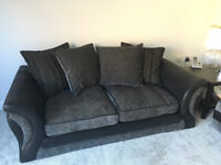 3 Seater DFS scatter back cushion sofa with footstool for sale £150.00