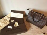 Louis Vuitton speedy 30 with Box padlock+2keys dustbag etc