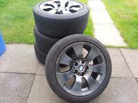 """17"""" Sparkling Graphite BMW Alloy Wheels E9x E46 E39 E36 etc."""