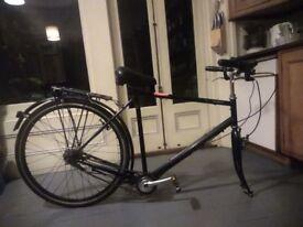 German Men's Bike Frame and Back Wheel