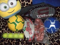 Sports Equipment - NEW* Wilson Tennis Racket, Nike FB's, Sondico Rugby, Basketball - up to 85% OFF