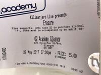2 x tickets Erasure O2 Academy Glasgow 27th May