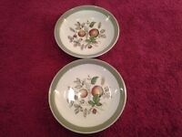 """2 Alfred Meakin Saucers - """"Hereford""""Hand Engraved Pattern- Lovely Condition-Ideal for Spares"""