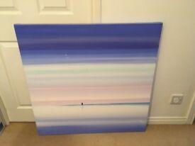 Large Oil on Canvas picture - Beach / Horizon / Romantic scene