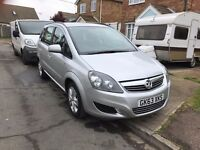Vauxhall Zafira 2013, Silver, Excellent Condition