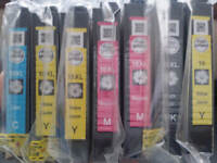 7 DAISY INK CARTRIDGES FOR EPSON PRINTER (6XL and 1 L)