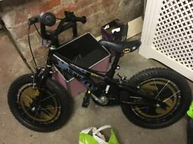"Batman bike 14-16"" brand new plus helmet/bell"