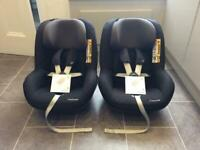 2-WAY MAXI COSI PEARL CAR SEATS (x2)